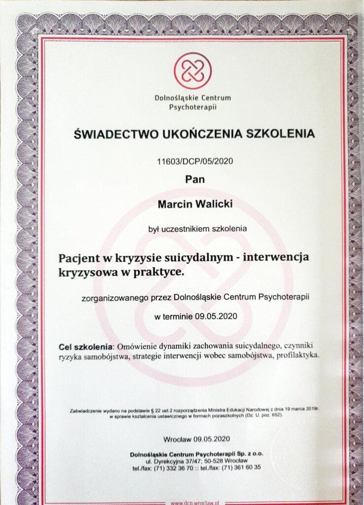 Marcin Walicki - Świadectwo Interwencja kryzysowa w praktyce.jpg