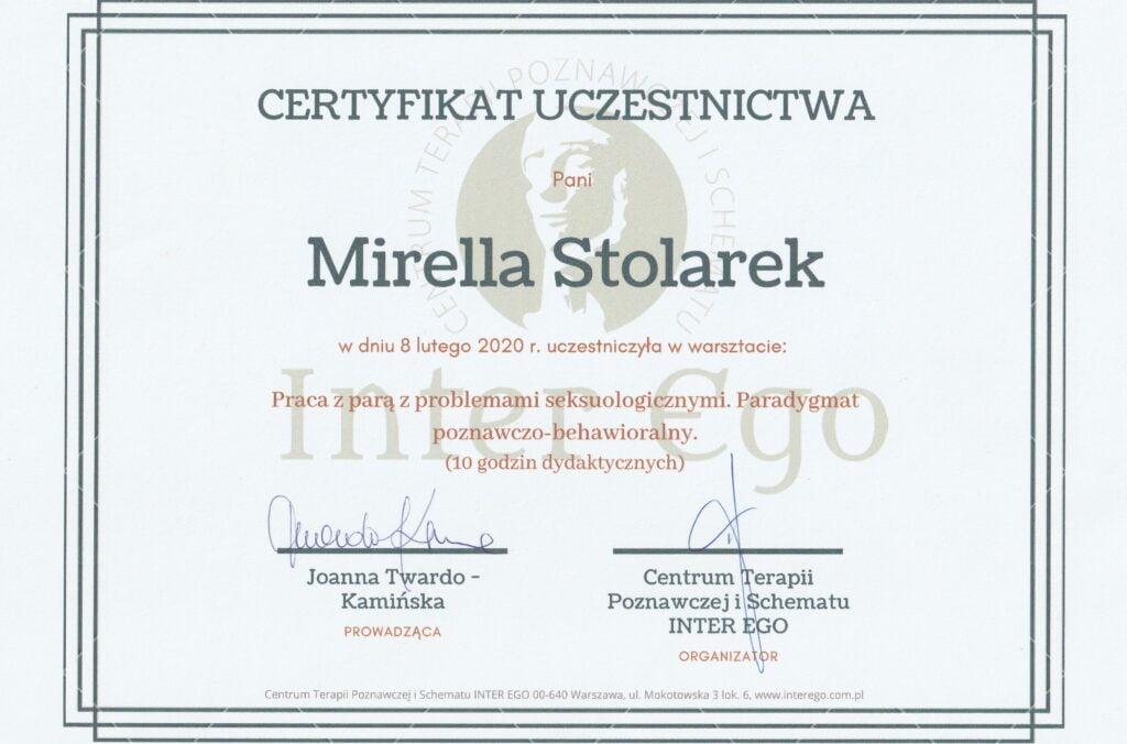 Mirella Stolarek - Praca z parą z problemami seksuologicznymi